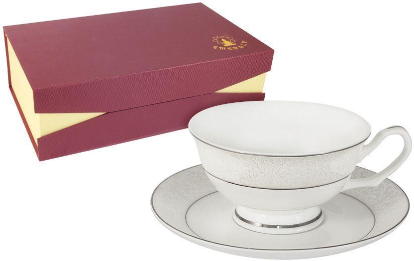 Набор чайный Emerald Мелисента, 12 предметов. E5-14-310/12-ALE5-14-310/12-ALНабор 12 предметов Мелисента : 6 чашек 0.2л + 6 блюдец Чайная и обеденная столовая посуда торговой марки Emerald произведена из высококачественного костяного фарфора. Благодаря высокому качеству исполнения, разнообразным декорам и оптимальному соотношению цена – качество, посуда Emerald завоевала огромную популярность у покупателей и пользуется неизменно высоким спросом. Изделия Emerald представлены как в виде обеденных и чайных сервизов на 6 и 12 персон. Поверхность изделий покрыта превосходной сверкающей глазурью, не содержащей свинца.
