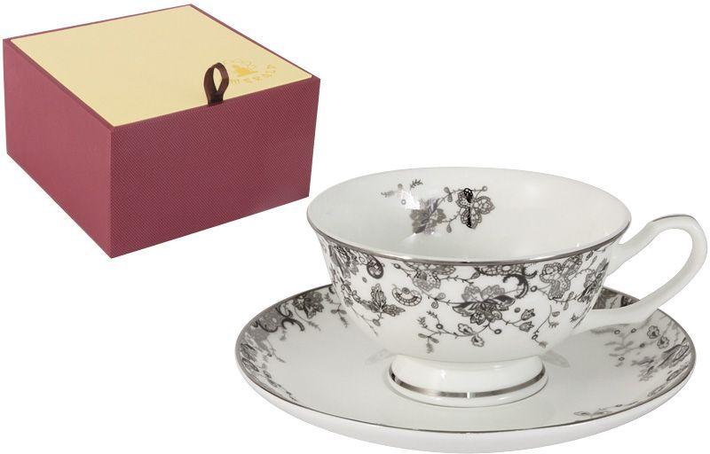 Чайная пара Emerald Эстель, 2 предметаE5-14-601/CS-ALЧайная пара Emerald Эстель состоит из чашки и блюдца, изготовленных из высококачественного костяного фарфора. Яркий дизайн изделий, несомненно, придется вам по вкусу. Чайная пара Emerald Эстель украсит ваш кухонный стол, а также станет замечательным подарком к любому празднику. Объем чашки: 200 мл.