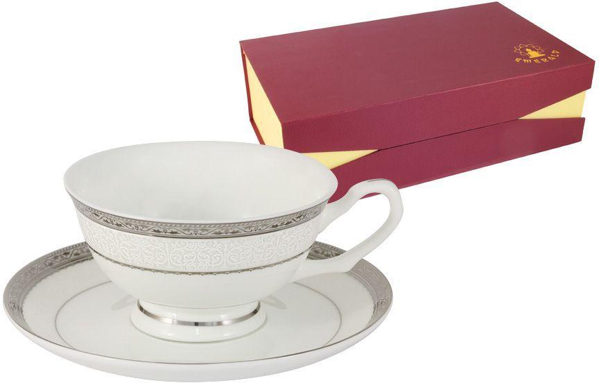 Набор чайный Emerald Бостон, 12 предметов. E5-16-908/12-ALE5-16-908/12-ALНабор 12 предметов Бостон : 6 чашек 0.2л + 6 блюдец Чайная и обеденная столовая посуда торговой марки Emerald произведена из высококачественного костяного фарфора. Благодаря высокому качеству исполнения, разнообразным декорам и оптимальному соотношению цена – качество, посуда Emerald завоевала огромную популярность у покупателей и пользуется неизменно высоким спросом. Изделия Emerald представлены как в виде обеденных и чайных сервизов на 6 и 12 персон. Поверхность изделий покрыта превосходной сверкающей глазурью, не содержащей свинца.