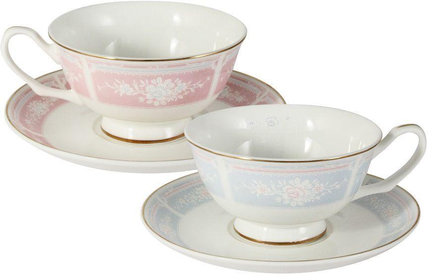 Набор чайный Emily Рашель, 4 предмета. E8-061AB/4-ALE8-061AB/4-ALНабор Рашель : 2 чашки 0.2л + 2 блюдца Чайная и обеденная столовая посуда торговой марки Emily произведена из высококачественного костяного фарфора. Благодаря высокому качеству исполнения, разнообразным декорам и оптимальному соотношению цена – качество, посуда Emily завоевала огромную популярность у покупателей и пользуется неизменно высоким спросом. Изделия Emily представлены как в виде обеденных и чайных сервизов на 6 и 12 персон, так и отдельными предметами и небольшими наборами в подарочных упаковках: чашками с блюдцами, кружками, чайниками, салатниками, десертными тарелками, а также чашками в наборе с блюдцами и десертными тарелками. Поверхность изделий покрыта превосходной сверкающей глазурью, не содержащей свинца. Посуду марки Emily, на которой нет золотой или серебряной росписи, можно мыть в посудомоечной машине и использовать в микроволновой печи.