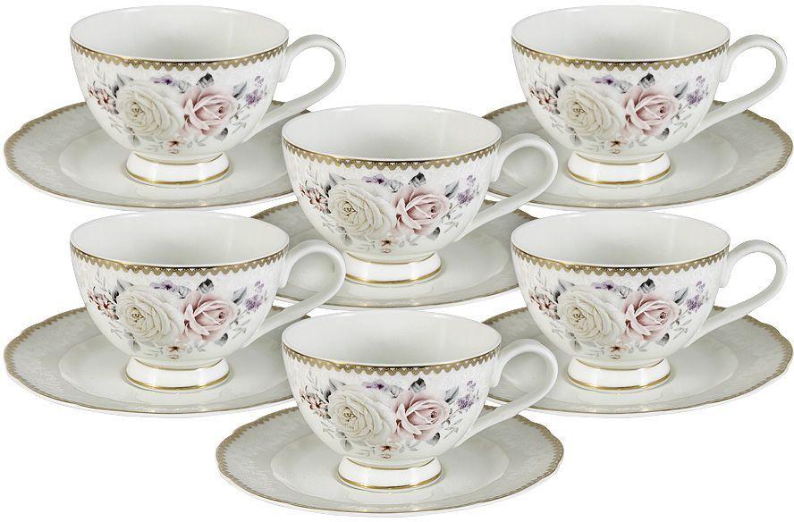 Набор чайный Emily Гармония, 12 предметов. E9-M1789/12-ALE9-M1789/12-ALНабор 12 предметов Гармония: 6 чашек 0.2л + 6 блюдец Чайная и обеденная столовая посуда торговой марки Emily произведена из высококачественного костяного фарфора. Благодаря высокому качеству исполнения, разнообразным декорам и оптимальному соотношению цена – качество, посуда Emily завоевала огромную популярность у покупателей и пользуется неизменно высоким спросом. Изделия Emily представлены как в виде обеденных и чайных сервизов на 6 и 12 персон, так и отдельными предметами и небольшими наборами в подарочных упаковках: чашками с блюдцами, кружками, чайниками, салатниками, десертными тарелками, а также чашками в наборе с блюдцами и десертными тарелками. Поверхность изделий покрыта превосходной сверкающей глазурью, не содержащей свинца. Посуду марки Emily, на которой нет золотой или серебряной росписи, можно мыть в посудомоечной машине и использовать в микроволновой печи.