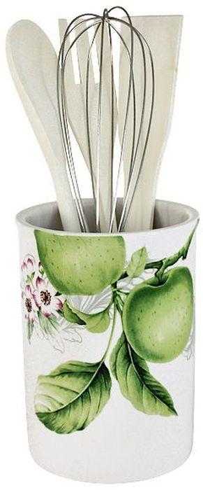 Банка-подставка с кухонными инструментами Imari Зеленые яблоки: 3 лопатки, венчик. IM55002-A2211ALIM55002-A2211ALБанка-подставка с кухонными инструментами 27см (3 лопатки, 1 венчик) Зеленые яблоки IMARI производит широкий ассортимент посуды из высококачественной керамики, основным ингредиентом которой является твердый доломит, поэтому все керамические изделия IMARI - легкие, белоснежные, прочные и устойчивы к высоким температурам. Высокое качество изделий достигается не только благодаря использованию особого сырья и новейших технологий и оборудования при изготовлении посуды, но также благодаря строгому контролю на всех этапах производственного процесса на фабрике в Китае. Нанесение сверкающей глазури, не содержащей свинца, придает изделиям IMARI превосходный блеск и особую прочность. Высокое качество исходного сырья и глазури позволяют мыть изделия IMARI в посудомоечных машинах.