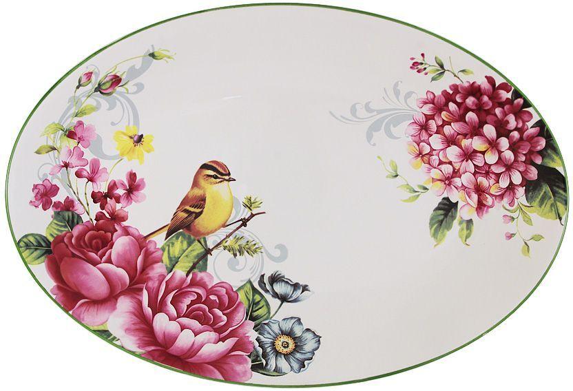 Блюдо Imari Цветы и птицы, овальное, 38 х 26 см maybelline new york суперстойкая компактная пудра superstay24 оттенок 29 классический бежевый 9 г