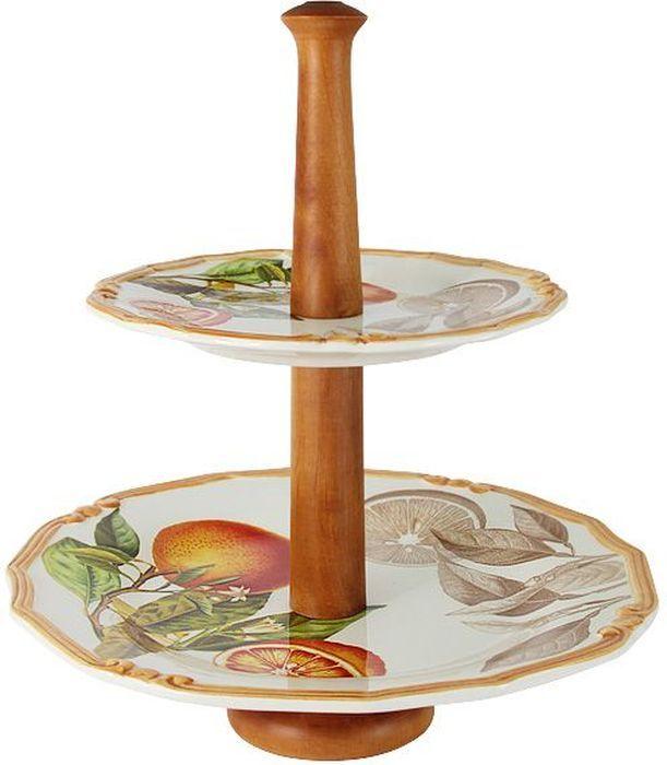 Ваза для фруктов LCS Апельсины, 30х33 см . LCS030-AR-ALLCS030-AR-ALДвухъярусная ваза для фруктов 30х33см Апельсины LCS - молодая, динамично развивающаяся итальянская компания из Флоренции, производящая разнообразную керамическую посуду и изделия для украшения интерьера. В своих дизайнах LCS использует как классические, так и современные тенденции. Высокий стандарт изделий обеспечивается за счет соединения высоко технологичного производства и использования ручной работы профессиональных дизайнеров и художников, работающих на фабрике.