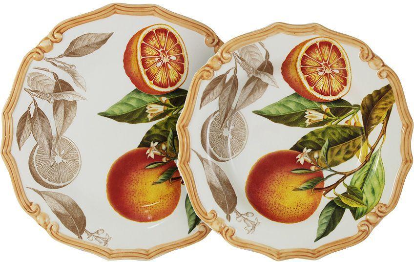 Набор тарелок LCS Апельсины: суповая, 23,5 см, обеденная, 25 см. LCS053/2-AR-ALLCS053/2-AR-ALНабор тарелок: суповая (23,5 см) + обеденная (25 см) Апельсины LCS - молодая, динамично развивающаяся итальянская компания из Флоренции, производящая разнообразную керамическую посуду и изделия для украшения интерьера. В своих дизайнах LCS использует как классические, так и современные тенденции. Высокий стандарт изделий обеспечивается за счет соединения высоко технологичного производства и использования ручной работы профессиональных дизайнеров и художников, работающих на фабрике.