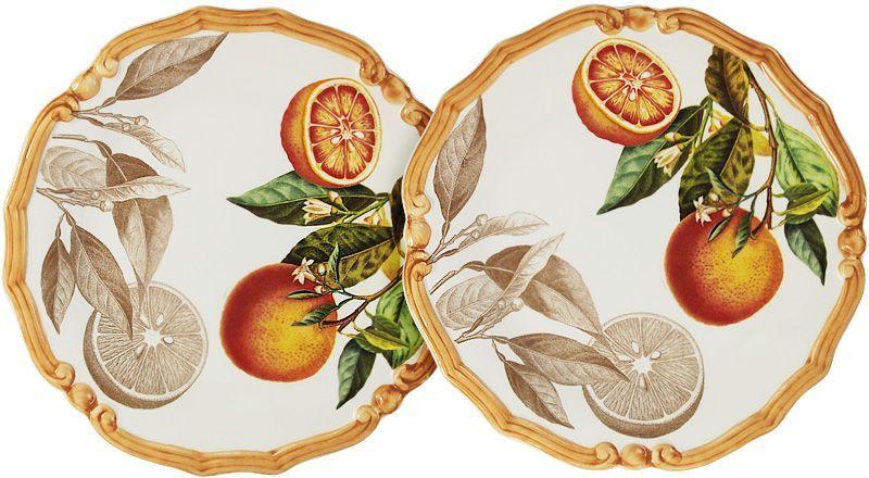 Тарелка десертная LCS Апельсины, 20,5 см, 2 шт. LCS053/2/PF-AR-ALLCS053/2/PF-AR-ALНабор из 2-х десертных тарелок 20,5 см Апельсины LCS - молодая, динамично развивающаяся итальянская компания из Флоренции, производящая разнообразную керамическую посуду и изделия для украшения интерьера. В своих дизайнах LCS использует как классические, так и современные тенденции. Высокий стандарт изделий обеспечивается за счет соединения высоко технологичного производства и использования ручной работы профессиональных дизайнеров и художников, работающих на фабрике.
