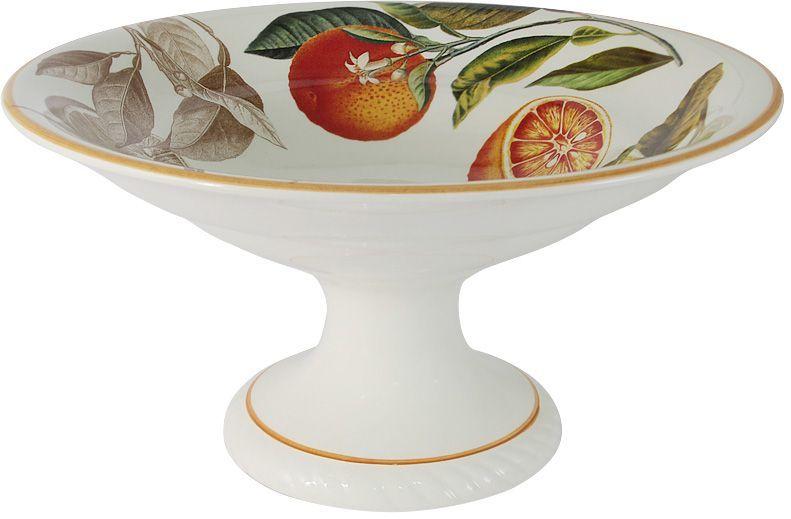 Ваза для фруктов LCS Апельсины, на ножке, 30 см, высота 16 см. LCS1308/PA-AR-ALLCS1308/PA-AR-ALВаза для фруктов на ножке 30 см h 16 см Апельсины LCS - молодая, динамично развивающаяся итальянская компания из Флоренции, производящая разнообразную керамическую посуду и изделия для украшения интерьера. В своих дизайнах LCS использует как классические, так и современные тенденции. Высокий стандарт изделий обеспечивается за счет соединения высоко технологичного производства и использования ручной работы профессиональных дизайнеров и художников, работающих на фабрике.