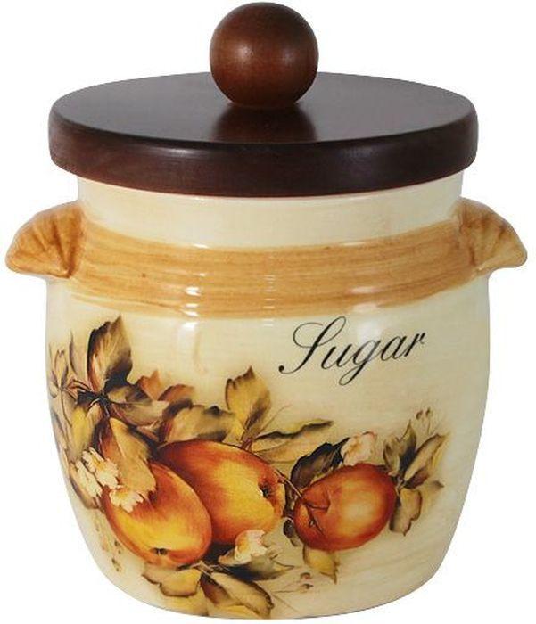 Банка для сахара LCS Зимние яблоки, с крышкой, 750 млLCS670/MLS-M-ALБанка LCS Зимние яблоки выполнена из высококачественной керамики и оформлена ярким рисунком. Изделие идеально подойдет для хранения сахара или других сыпучих продуктов. Емкость легко закрывается крышкой из дерева. Функциональная и вместительная, такая банка станет незаменимым аксессуаром и стильно оформит интерьер кухни.