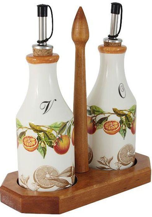 Набор бутылок для масла и уксуса LCS Апельсины, на подставке, 0,275 л. LCS872L-AR-ALLCS872L-AR-ALНабор из 2-х бутылок для масла и уксуса на подставке 0,275 л Апельсины LCS - молодая, динамично развивающаяся итальянская компания из Флоренции, производящая разнообразную керамическую посуду и изделия для украшения интерьера. В своих дизайнах LCS использует как классические, так и современные тенденции. Высокий стандарт изделий обеспечивается за счет соединения высоко технологичного производства и использования ручной работы профессиональных дизайнеров и художников, работающих на фабрике.