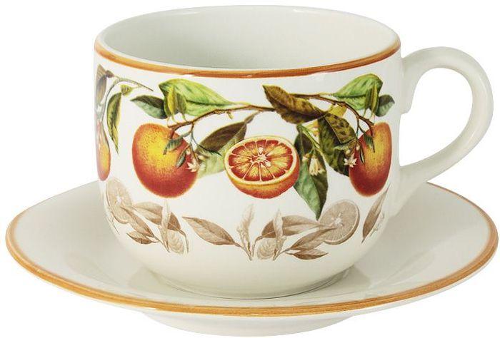 Чашка с блюдцем LCS Апельсины, 0,5 л. LCS933/T/P-AR-ALLCS933/T/P-AR-ALЧашка с блюдцем 0,5 л Апельсины LCS - молодая, динамично развивающаяся итальянская компания из Флоренции, производящая разнообразную керамическую посуду и изделия для украшения интерьера. В своих дизайнах LCS использует как классические, так и современные тенденции. Высокий стандарт изделий обеспечивается за счет соединения высоко технологичного производства и использования ручной работы профессиональных дизайнеров и художников, работающих на фабрике.