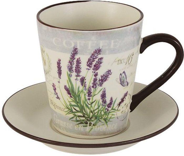 Чайная пара LF Ceramic Лаванда. 2 предметаLF-430F8556-1-ALЧайная пара LF Ceramic Лаванда состоит из чашки и блюдца, изготовленных из высококачественной глазурованной керамики. Яркий дизайн изделий, несомненно, придется вам по вкусу. Чайная пара LF Ceramic Лаванда украсит ваш кухонный стол, а также станет замечательным подарком к любому празднику. Объем чашки: 200 мл.