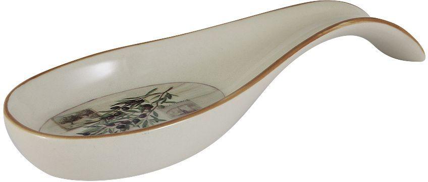 Подставка под ложку LF Ceramic Оливки, длина 22 смLF-85F9485-ALПодставка под ложку LF Ceramic Оливки изготовлена из высококачественной керамики и декорирована ярким рисунком. Подставка под ложку - очень удобный и полезный аксессуар на вашей кухне. Она поможет поддерживать чистоту на столе во время приготовления пищи. Подставка под ложку LF Ceramic Оливки украсит кухонный стол, а также станет замечательным подарком для ваших друзей и близких. Длина подставки: 22 см.