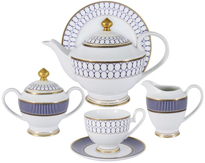 """Чайный сервиз Midori """"Адмиралтейский"""", 23 предмета, 6 персон. MI2-9831-Y3/23A-AL"""