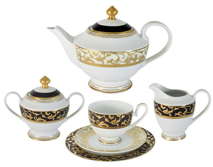 """Чайный сервиз Midori """"Толедо"""", 23 предмета, 6 персон. MI2-K6892-Y6/23B-AL"""