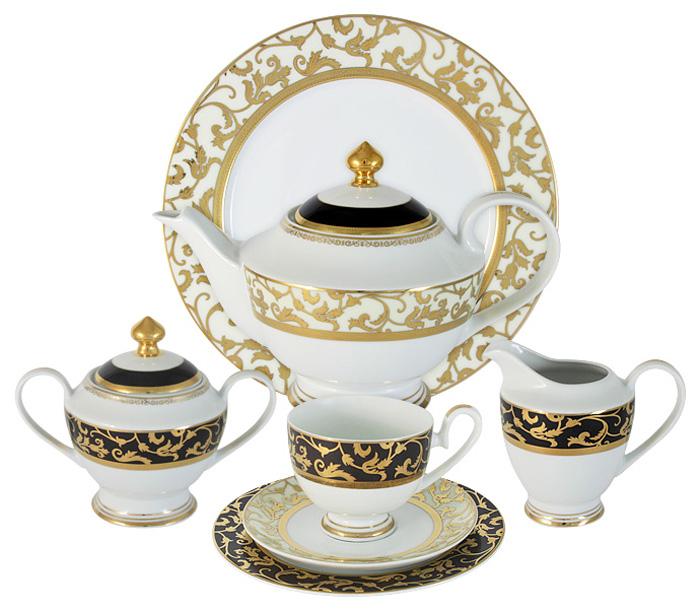 """Чайный сервиз Midori """"Толедо"""", 42 предмета, 12 персон. MI2-K6892-Y6/42B-AL"""