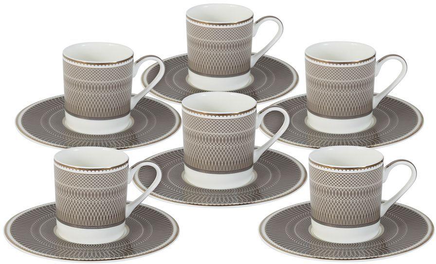 Кофейный набор Naomi Мокко: 6 чашек 0,1л, 6 блюдец. NG-I150905A-C6-ALNG-I150905A-C6-ALКофейный набор Мокко: 6 чашек 0.1л+6 блюдец Чайная и обеденная посуда торговой марки Naomi из высококачественного костяного фарфора отличается прекрасными дизайнами, исполненными как в современном, так и в классическом стиле по разработкам современных японских художников. Все изделия изготавливаются на современном оборудовании по новейшим технологиям и проходят строгий контроль качества.