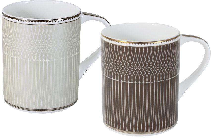 Набор кружек Naomi Мокко/Маренго, 0,35 л, 2 шт. NG-I150905A-M2-ALNG-I150905A-M2-ALНабор из 2-х кружек Мокко/Маренго 0.35л Чайная и обеденная посуда торговой марки Naomi из высококачественного костяного фарфора отличается прекрасными дизайнами, исполненными как в современном, так и в классическом стиле по разработкам современных японских художников. Все изделия изготавливаются на современном оборудовании по новейшим технологиям и проходят строгий контроль качества.