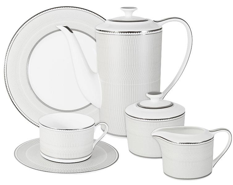 Чайный сервиз Naomi Жемчуг, 21 предмет, 6 персон. NG-I150905B-21-ALNG-I150905B-21-ALЧайный сервиз Жемчуг 21 предм.на 6 персон (6 чашек 0.25л, 6 блюдец, 6 тарелок 21.5см, чайник 1.4л, сахарница 0.35л, молочник 0.25л ) Чайная и обеденная посуда торговой марки Naomi из высококачественного костяного фарфора отличается прекрасными дизайнами, исполненными как в современном, так и в классическом стиле по разработкам современных японских художников. Все изделия изготавливаются на современном оборудовании по новейшим технологиям и проходят строгий контроль качества.