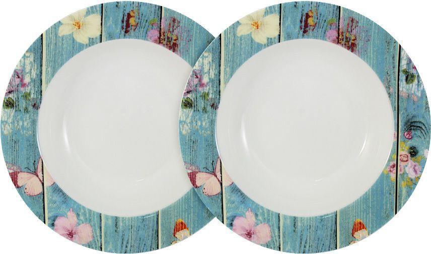 Набор суповых тарелок Primavera Fine Bone China Фантазия, 23 см, 2 шт. PWW-150118-23ALPWW-150118-23ALНабор из 2-х суповых тарелок 23см Фантазия Обеденные и чайные сервизы торговой марки Primavera изготовлены из фарфора с добавлением костной золы (7-15%), благодаря которой фарфор получается прозрачным и прочным. Посуда подходит для ежедневного инспользования, благодаря отсутствию серебряной и золотой отделки посуду можно мыть в посудомоечной машине, а также использовать в микроволновой печи.
