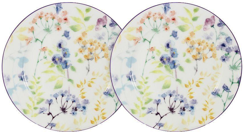 Тарелка закусочная Primavera Fine Bone China Акварель, 20,5 см, 2 шт. PWW-150248-20ALPWW-150248-20ALНабор из 2-х закусочных тарелок 20.5см Акварель Обеденные и чайные сервизы торговой марки Primavera изготовлены из фарфора с добавлением костной золы (7-15%), благодаря которой фарфор получается прозрачным и прочным. Посуда подходит для ежедневного инспользования, благодаря отсутствию серебряной и золотой отделки посуду можно мыть в посудомоечной машине, а также использовать в микроволновой печи.