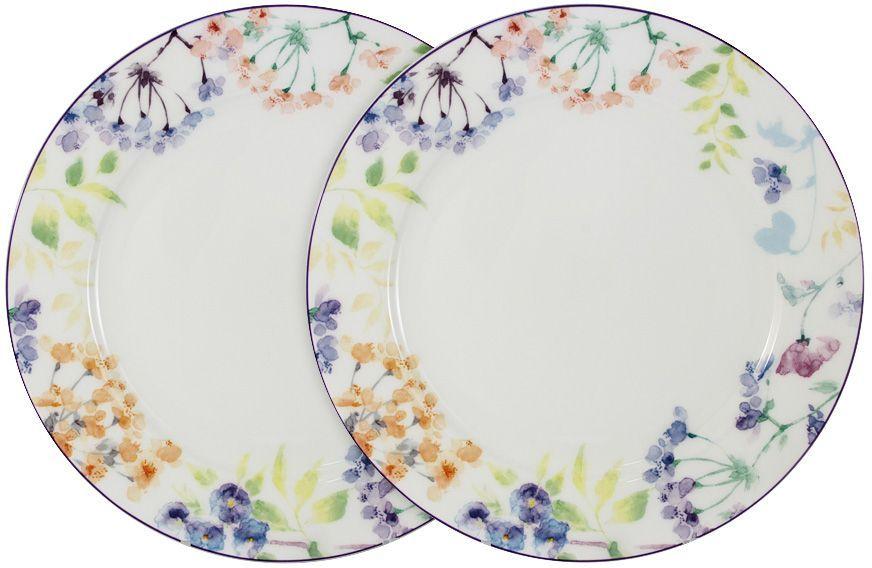Набор обеденных тарелок Primavera Fine Bone China Акварель, 27 см, 2 шт. PWW-TD150248-27ALPWW-TD150248-27ALНабор из 2-х обеденных тарелок 27см Акварель Обеденные и чайные сервизы торговой марки Primavera изготовлены из фарфора с добавлением костной золы (7-15%), благодаря которой фарфор получается прозрачным и прочным. Посуда подходит для ежедневного инспользования, благодаря отсутствию серебряной и золотой отделки посуду можно мыть в посудомоечной машине, а также использовать в микроволновой печи.