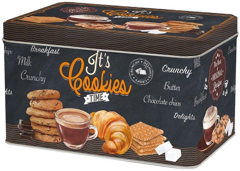 Коробка для печенья Nuova R2S Время кофе, 22 х 14 х 13 смR2S080/ICOT-ALКоробка для печенья Nuova R2S Время кофе изготовлена из металла с оригинальным декором. Такая коробка прекрасно подойдет для хранения печенья, конфет и других сладостей, а также орехов или сухофруктов. Изделие отлично дополнит коллекцию ваших кухонных аксессуаров и порадует вас оригинальным дизайном.