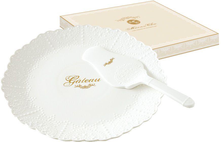 Набор для торта Nuova R2S Белое кружево: блюдо 30 см, лопатка. R2S1271/MADE-ALR2S1271/MADE-ALНабор для торта: блюдо 30см с лопаткой Белое кружево Концепция выпускаемой продукции заключается в создании единой дизайнерской линии предметов сервировки стола, оформления интерьера кухни или столовой комнаты. Вся продукция производится из современных и экологически чистых материалов: фарфора, стекла, пластика и дерева. Продукция компании NUOVA R2S отличается современным дизайном, и легкостью в эксплуатации. Компания работает в тесном сотрудничестве с лучшими итальянскими художниками и дизайнерами.