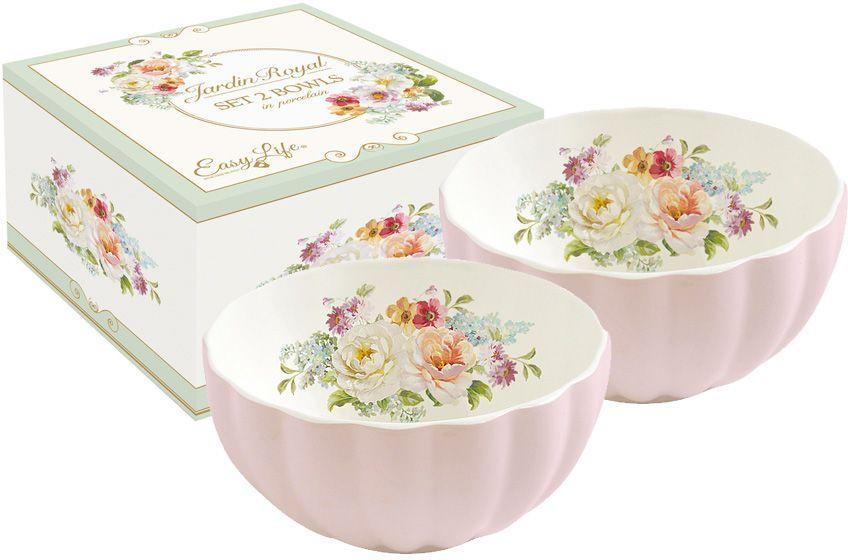 Набор салатников Nuova R2S Королевский сад, цвет: светло-розовый, диаметр 12 см, 2 штR2S1286/ROYP-ALНабор Nuova R2S Королевский сад состоит из 2 небольших салатников, выполненных из высококачественного фарфора. Нанесение сверкающей глазури, не содержащей свинца, придает изделиям превосходный блеск и особую прочность. Внешние стенки декорированы рельефом. Внутренняя поверхность оформлена изысканным цветочным рисунком. Такой набор салатников станет отличным приобретением для кухни. Благодаря изящному дизайну он отлично дополнит сервировку стола и подчеркнет ваш безупречный вкус. Продукция компании Nuova R2S отличается современным дизайном и легкостью в эксплуатации. Компания работает в тесном сотрудничестве с лучшими итальянскими художниками и дизайнерами.