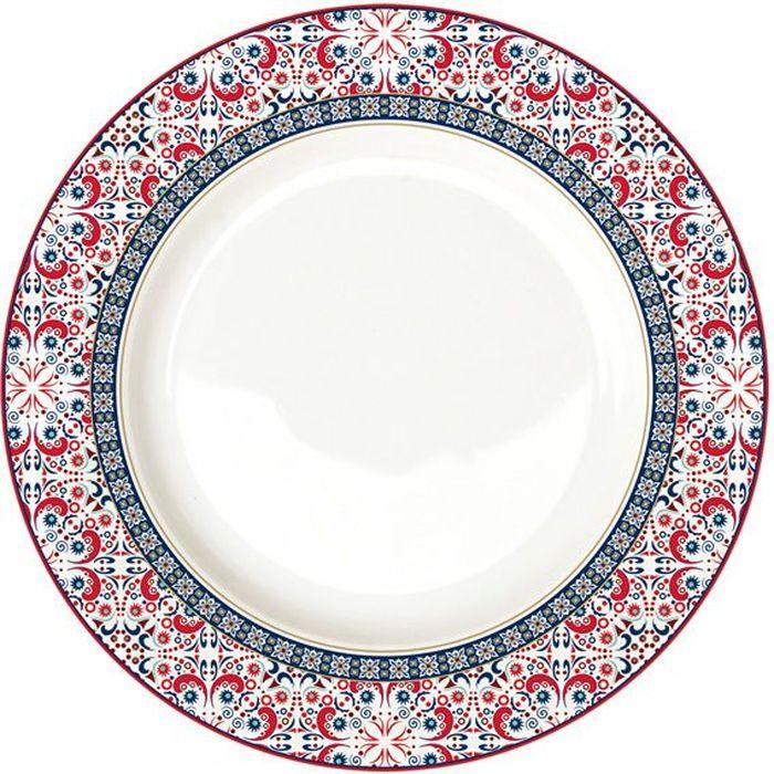Тарелка обеденная Nuova R2S Мавритания, 26,5 см. R2S942/ALHA-ALR2S942/ALHA-ALТарелка обеденная 26.5см Мавритания Концепция выпускаемой продукции заключается в создании единой дизайнерской линии предметов сервировки стола, оформления интерьера кухни или столовой комнаты. Вся продукция производится из современных и экологически чистых материалов: фарфора, стекла, пластика и дерева. Продукция компании NUOVA R2S отличается современным дизайном, и легкостью в эксплуатации. Компания работает в тесном сотрудничестве с лучшими итальянскими художниками и дизайнерами.