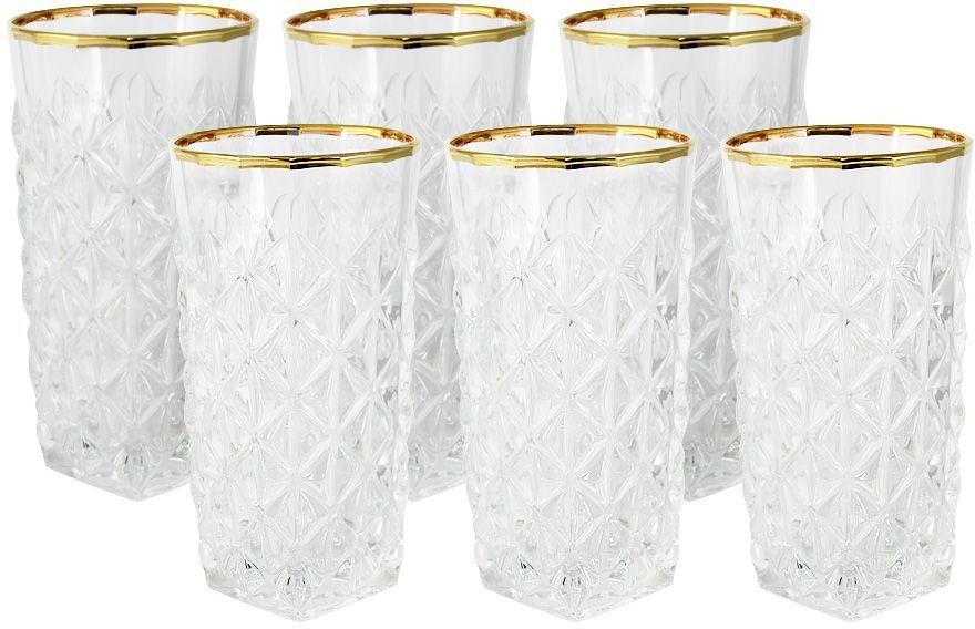 Набор стаканов для воды Same Decorazione Энигма, 0,35 л, 6 шт. SM3858/1-ALSM3858/1-ALНабор: 6 стаканов для воды 0.35л Энигма Хрустальные изделия из Италии от компании Same Decorazione — это маленькие шедевры, о которых знает уже немалая часть Европы. Выполненные из высокосортного хрусталя (24% PbO ), все изделия выделяются своим изяществом и блеском. А элегантная форма подчеркивается нежными изысканными рисунками, декорированными 24-каратным золотом и платиной. Хрустальные изделия Same Decorazione отличаются чистым, неискажённым преломлением света, прозрачностью и красотой граненых поверхностей. Золотая и платиновая отделка безопасна для использования