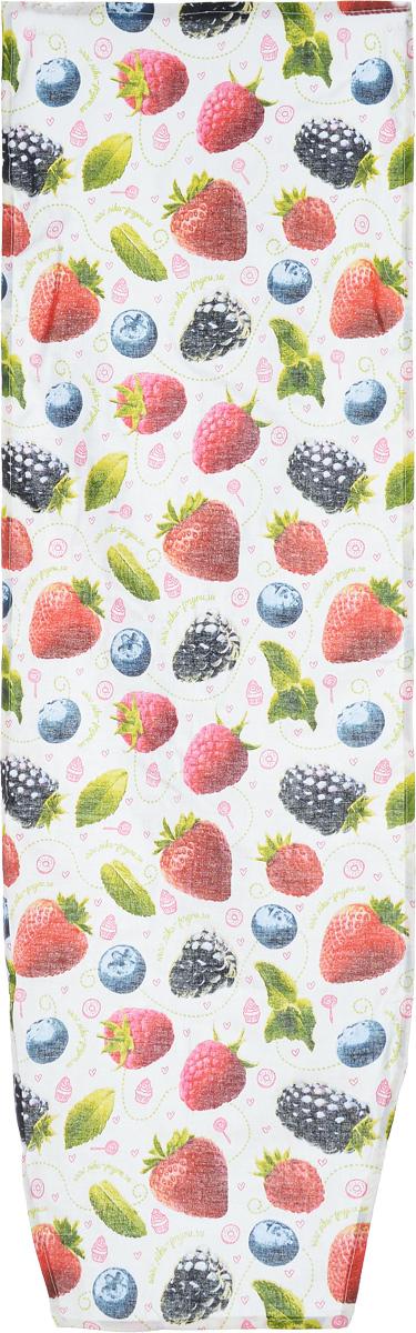 Чехол для гладильной доски Nika Лесные ягоды, универсальный, 129 х 40 смЧ1/белыйЧехол Nika Лесные ягоды, выполненный из 100% хлопка, продлит срок службы вашей гладильной доски. Чехол снабжен стягивающим шнуром, при помощи которого вы легко отрегулируете оптимальное натяжение и зафиксируете чехол на рабочей поверхности гладильной доски. Чехол оформлен красивым рисунком, что оживит внешний вид вашей гладильной доски. Размер чехла: 129 х 40 см. Максимальный размер доски: 125 х 36 см.