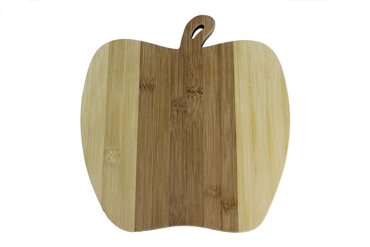 Доска разделочная Vetta Яблоко 22 см х 23 см851011Разделочная доска Vetta, изготовленная из бамбука, прекрасно подходит для разделки и измельчения всех видов продуктов. Доска имеет отверстие для подвешивания на крючок.