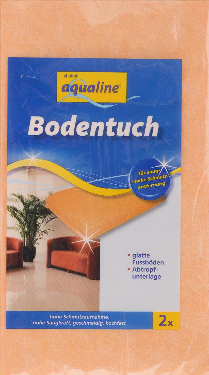 Тряпка для мытья пола Aqualine, впитывающая, 50 х 60 см, 2 шт5005Мягкая тряпка Aqualine, выполненная из вискозы и полипропилена, отлично подойдет для мытья гладких полов. Она эффективно собирает грязь и влагу, не оставляя разводов. Тряпка обладает высокой впитывающей способностью и легко выжимается. Также она может использоваться в качестве подложки для сушки мокрых изделий. Тряпку можно стирать при температуре до 95°С.