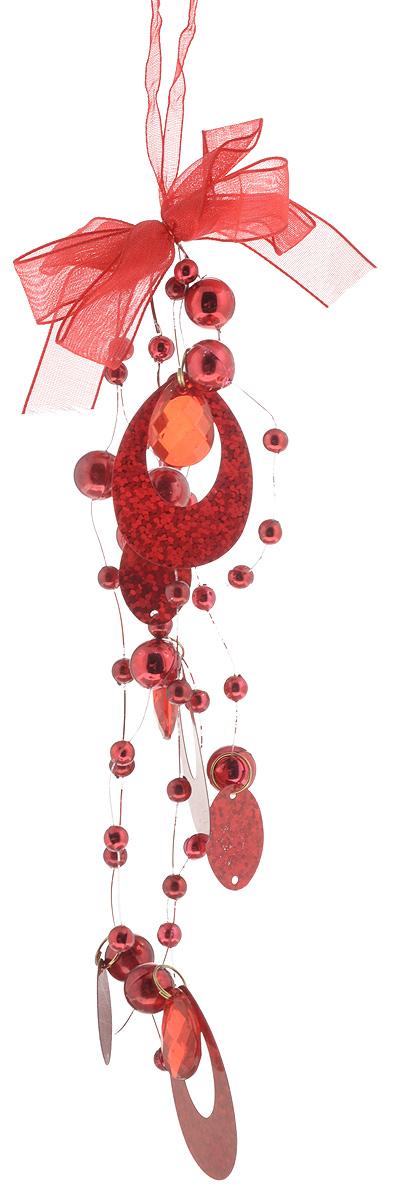 Украшение новогоднее подвесное B&H, цвет: красный, высота 20 смBH1206_красныйНовогоднее подвесное украшение B&H представляет собой подвеску из нитей с бусинками, камнями и кольцами. С помощью ленточки украшение можно повесить в любом понравившемся вам месте. Но, конечно, удачнее всего оно будет смотреться на праздничной елке. Елочная игрушка - символ Нового года. Она несет в себе волшебство и красоту праздника. Создайте в своем доме атмосферу веселья и радости, украшая новогоднюю елку нарядными игрушками, которые будут из года в год накапливать теплоту воспоминаний.