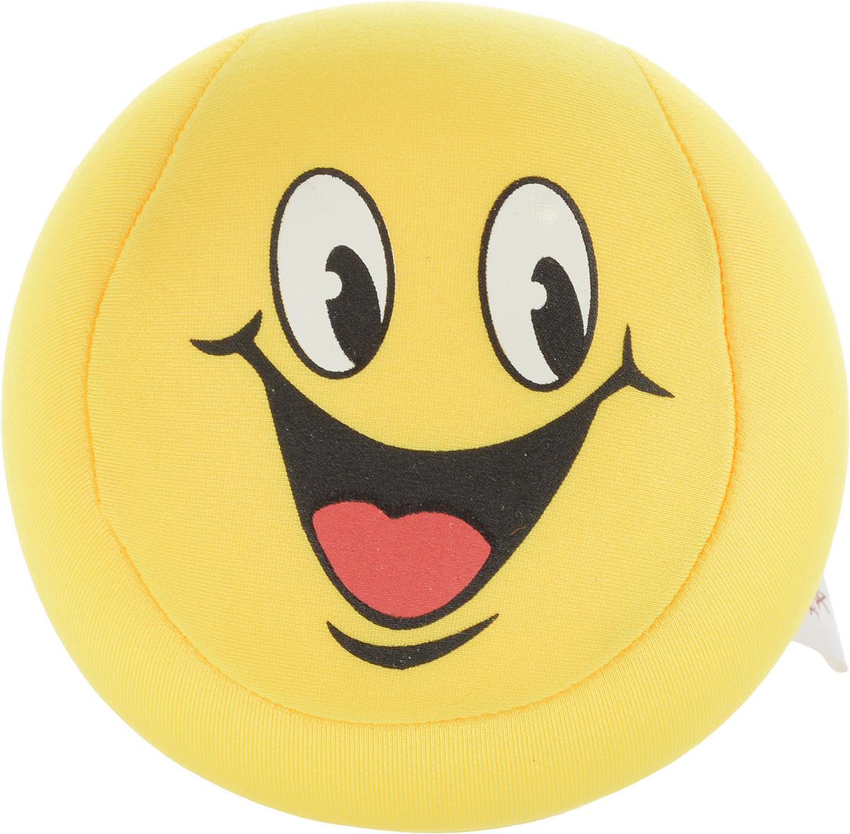 Игрушка-антистресс Home Queen Смайлик, цвет: желтый, диаметр 10 см70062_желтыйИгрушка-антистресс Home Queen Смайлик способна стать аккумулятором хорошего настроения. Игрушка выполнена из трикотажной ткани в виде веселого смайлика, внутри - наполнитель из полистирола. Игрушка легкая, упругая, как бы вы ее ни сжимали, она неизменно возвращает себе первоначальную форму. Тысячи мельчайших гранул полистирола создают поистине волшебный релаксирующий эффект. Такая игрушка - идеальный рецепт хорошего настроения! Она подходит абсолютно всем, поскольку не вызывает аллергии. Уважаемые клиенты! Обращаем ваше внимание на возможные изменения в дизайне товара, рисунок на игрушке может отличаться от изображенного на фотографии. Поставка осуществляется в зависимости от наличия на складе.