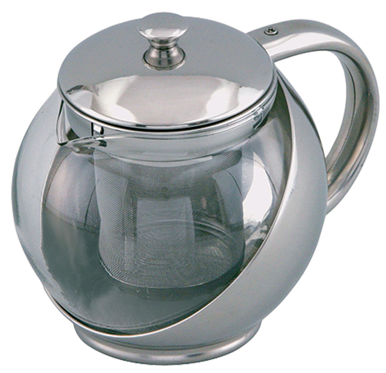 Заварочный чайник Rainstahl, 900 мл. 7201-90 RS\TP7201-90 RS\TPЗаварочный чайник. Корпус из нержавеющей стали. Стеклянная прозрачная колба. Объём 900 мл. Металлический фильтр. Стальная крышка.