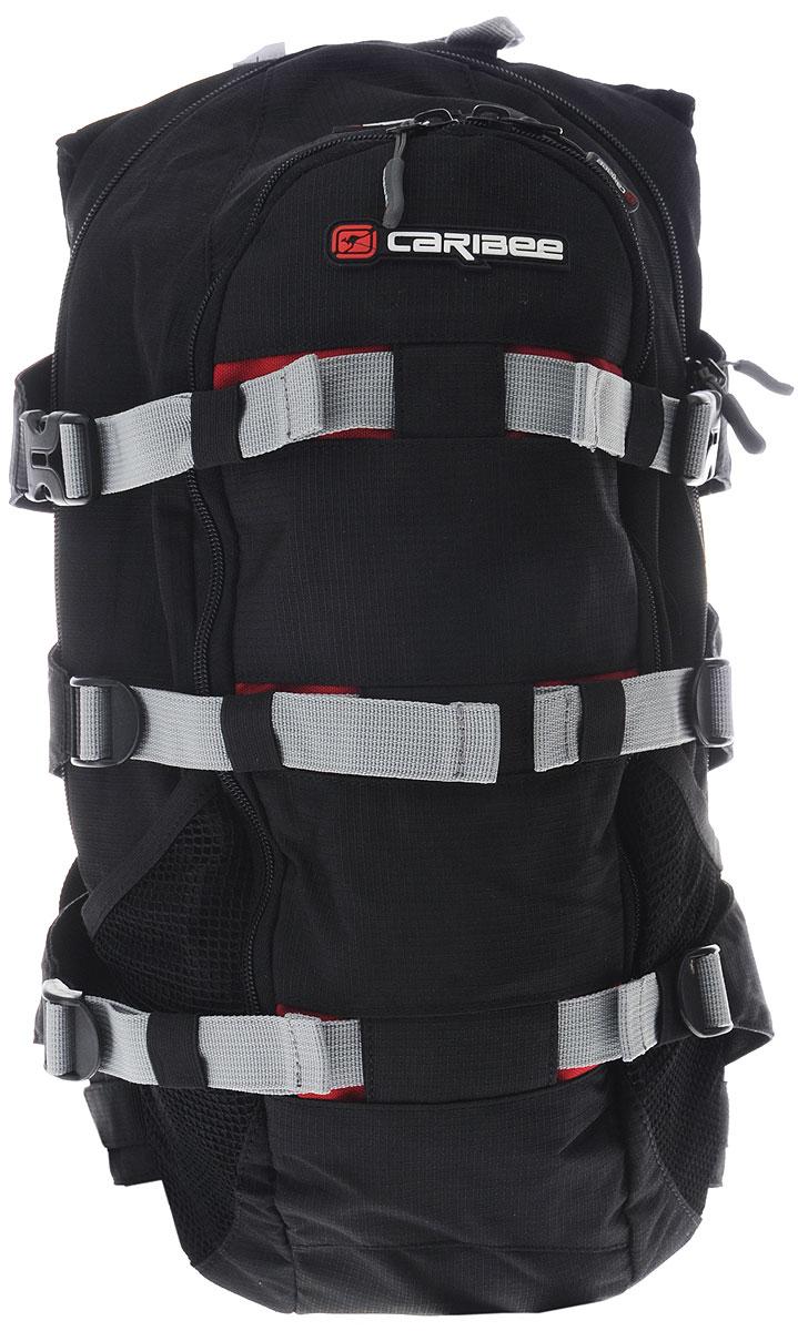 Рюкзак городской Caribee Stratos XL, цвет: черный, бордовый, 18 л6101_черный, бордовыйРюкзак Caribee Stratos XL предназначен для повседневного использования, занятий спортом, велопрогулок или городских прогулок по свежему воздуху. Изделие выполнено из высококачественного полиэстера и имеет одно основное отделение, закрывающееся на застежку-молнию. Внутри него расположен нашивной карман на резинке и карман с сетчатой вставкой на молнии, а также имеется пластиковый карабин, петля на липучке и отверстие для провода MP3-плеера или телефона. Снаружи, на передней стенке расположен карман на застежке-молнии со встроенным органайзером для мелочей и нашивным карманом с сетчатой вставкой на молнии. По бокам имеются два сетчатых кармана для бутылок. Наличие набедренного пояса и нагрудной стяжки позволит держать рюкзак максимально прижатым к спине, совершая велопрогулки. Анатомическая форма спинки и плечевых лямок с мягкой пенополиуретановой подкладкой, обшита дышащей сетчатой тканью, непременно позволит вам чувствовать себя...