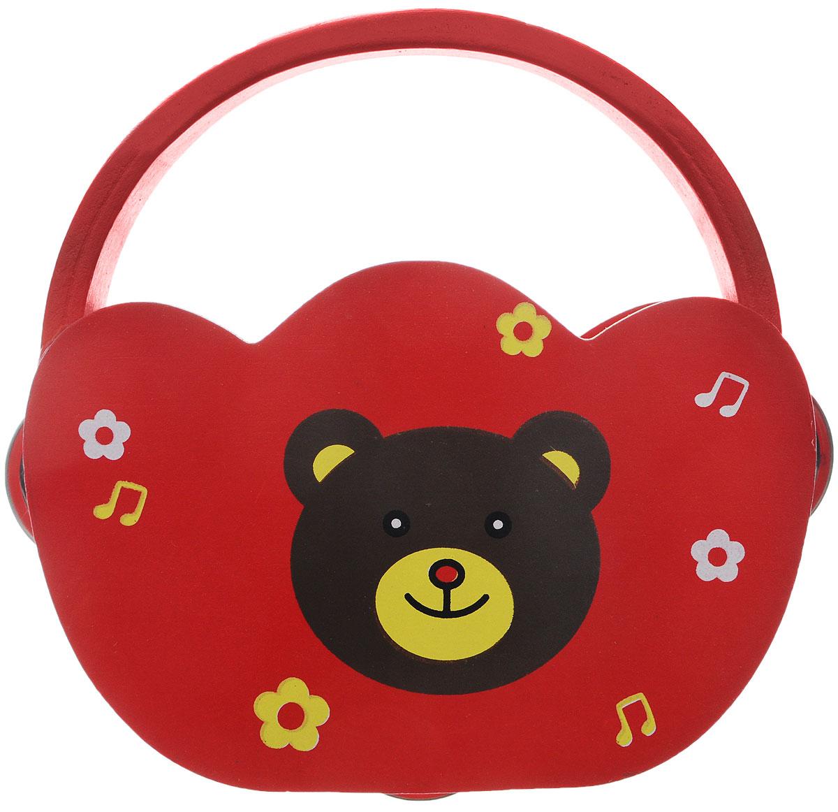 Фабрика Фантазий Бубен Мишка40072_красный, мишкаБубен Фабрика Фантазий Мишка доставит огромное удовольствие вашему ребенку и вдохновит его к занятию музыкой. Музыкальный инструмент выполнен в оригинальном дизайне: поверхность бубна деревянная, а по бокам ободка имеются прорези со вставленными в них металлическими пластинами. Играть на бубне можно двумя способами: встряхивая его или ударяя о его поверхность. Бубен способствует развитию звуковосприятия, чувства ритма и музыкальных способностей у ребенка.