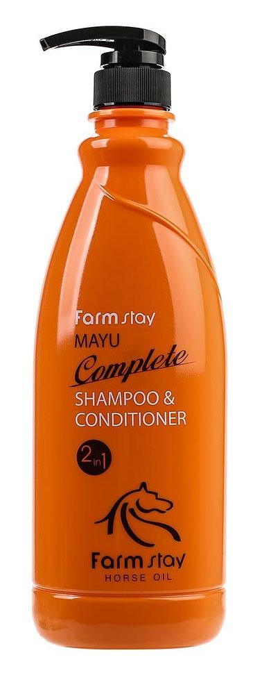 FarmStay Питательный шампунь-кондиционер с лошадиным маслом, 1000 мл7042184Шампунь + кондиционер с лошадиным маслом предназначен специально для улучшения состояний безжизненных, тусклых волос. Шампунь питает и восстанавливает слабые волосы, делает их сильными, крепкими и шелковистыми. Бальзам, включенный в состав шампуня, смягчает и увлажняет волосы, облегчает расчесывание, лечит секущиеся кончики. Животный жир богат незаменимыми жирными кислотами (например, в нем содержится альфа-липоевая и линолевая кислоты, а также витамин А и Е). Лошадиное масло особенно ценится тем, что оно лучше других жиров усваивается волосами, так как имеет состав, схожий с человеческой жировой секрецией. Именно поэтому данное вещество не отторгается организмом. Уже после первых применений шампуня вы заметите, что волосы заблестели, стали более здоровыми, упругими и живыми.