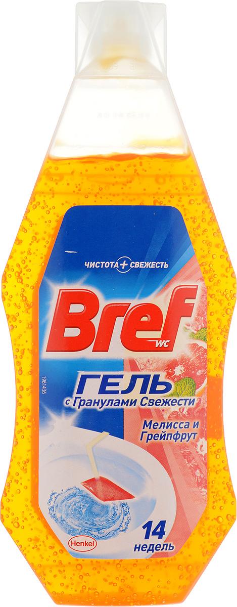 Освежитель для туалета Bref Гранулы свежести, с ароматом мелиссы и грейпфрута, 360 мл904632Освежитель для туалета Bref Гранулы свежести обеспечивает безупречную чистоту и превосходный свежий аромат мелиссы и грейпфрута после каждого смывания. Нужно просто повесить корзинку на край унитаза и наполнить гелем. Товар сертифицирован.