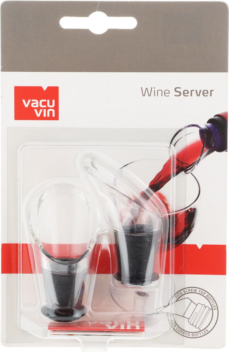 Набор каплеуловителей VacuVin Wine Server, 2 шт1854060Элегантный уловитель капель Wine Server, изготовленный из высокопрочного пластика, помогает сохранить вашу скатерть чистой. Уловитель имеет раздвоенный носик, позволяющий возвращать оставшиеся на уловителе капли в бутылку. Уловитель капель Wine Server прекрасно подходит для большинства винных бутылок. Размер каплеуловителя: 5,5 см х 3,5 см х 3,5 см.