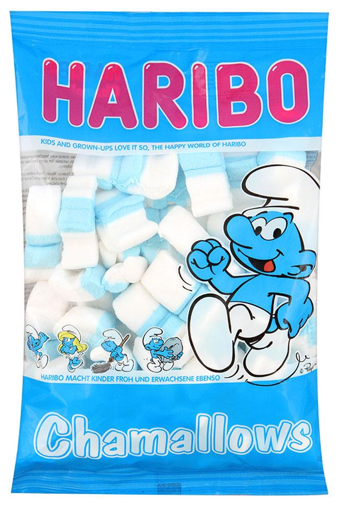 Haribo Шамеллоуз Смурфики зефирные конфеты, 175 г