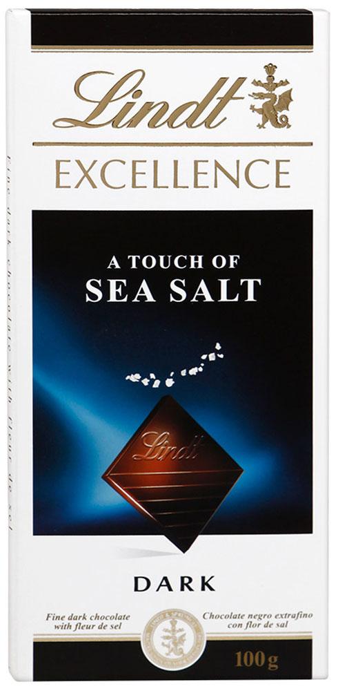 Lindt Excellence темный шоколад с морской солью, 100 г 3046920029674