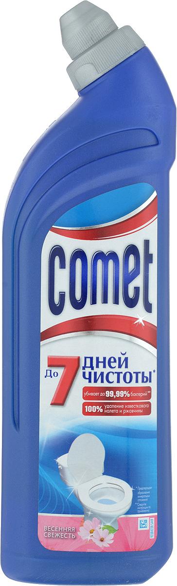 Средство чистящее для туалета Comet, весенняя свежесть, 750 млCG-80227819Чистящее средство для туалета Comet сохраняет и продлевает чистоту до 7 дней, благодаря защитному слою. Средство отлично чистит и удаляет известковый налет и ржавчину, а также дезинфицирует поверхность. Придает свежий аромат. Товар сертифицирован.
