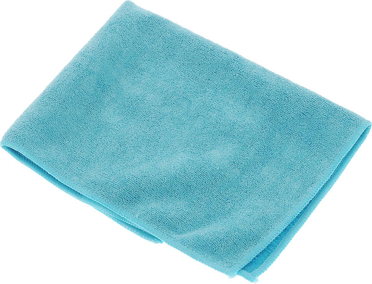 Салфетка из микрофибры Magic Power, с леской, цвет: голубой, 36 х 38 смMP-508Салфетка Magic Power изготовлена из микрофибры, одна сторона снабжена леской. Такая салфетка предназначена для сухой и влажной уборки. Подходит для ухода за стеклокерамическими, металлическими и пластиковыми поверхностями. Благодаря специальной структуре волокон справляется с любыми загрязнениями. Не оставляет разводов и ворсинок. Обладает отличными впитывающими свойствами. Размер салфетки: 36 х 38 см.