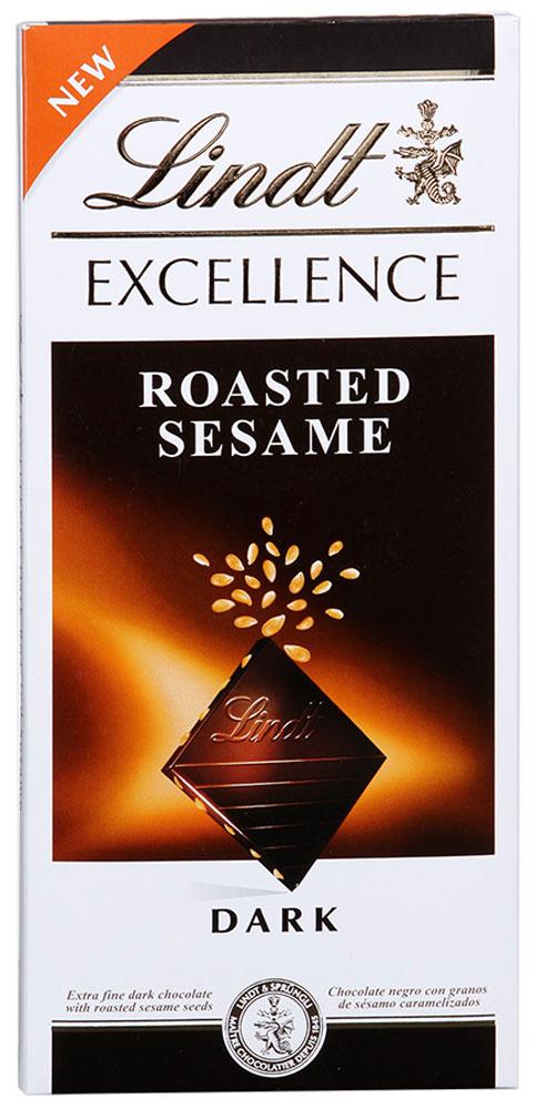 Lindt Excellence темный шоколад с кунжутом, 100 г3046920017503Изысканный темный шоколад с кунжутом. Хорошо сбалансированному горьковато-сладкому вкусу особую пикантность придает карамелизированный кунжут, приятный хруст которого интересно контрастирует с шелковистой текстурой шоколада. Уважаемые клиенты! Обращаем ваше внимание, что полный перечень состава продукта представлен на дополнительном изображении.
