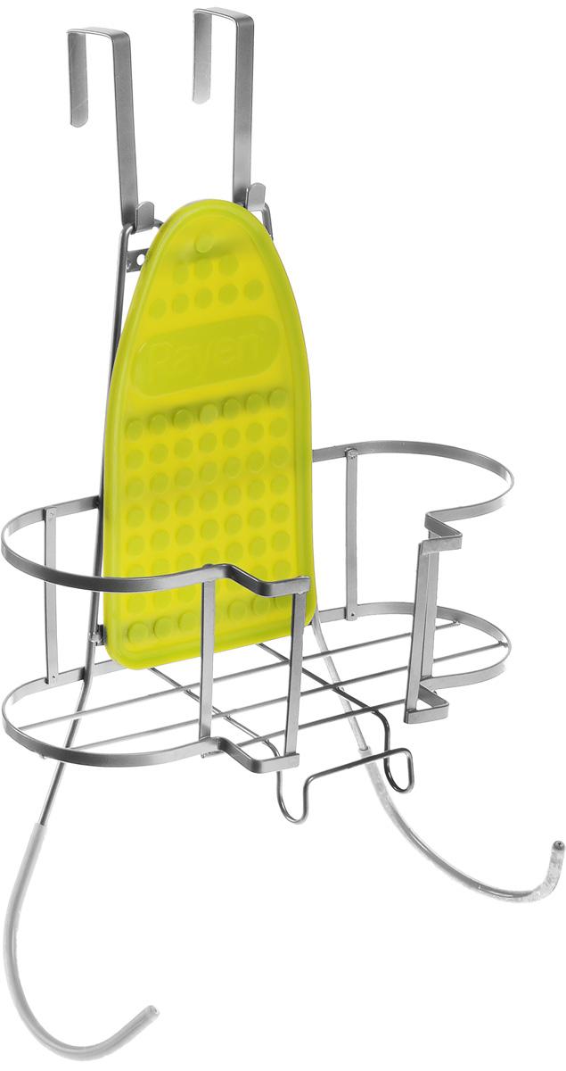 Подвес для гладильной доски и утюга Rayen37003198Подвес для гладильной доски и утюга Rayen - отличная вещь для тек, кто любит порядок, создает максимально удобное место для хранения гладильных принадлежностей. Подвес состоит из панели для крепления к стене, держателя для утюга и держателя для гладильной доски, крепится к стене (крепежные элементы в комплекте) в удобном для вас месте и на удобной для вас высоте. На подвес допускается установка утюга с горячей подошвой и предусмотрено крепление для электрического провода утюга.