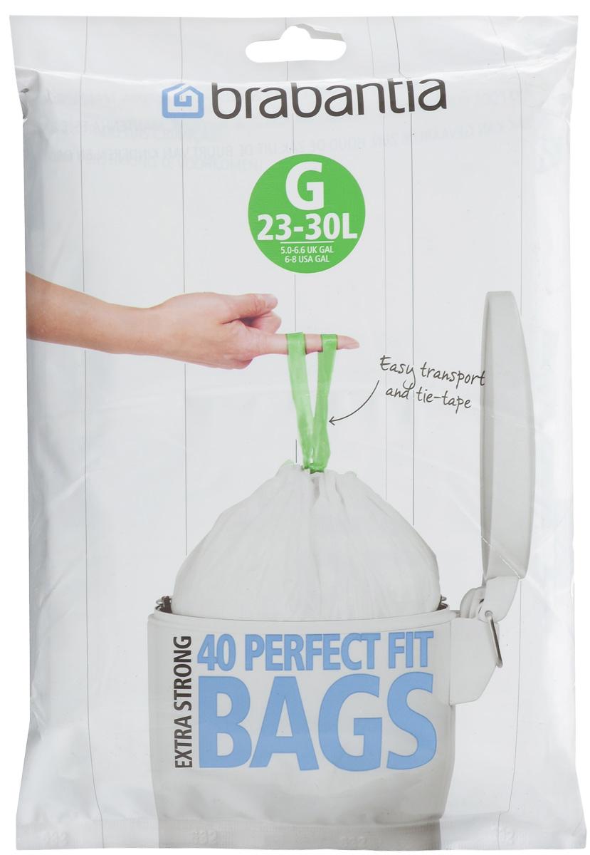 Пакеты для мусора Brabantia, 23-30 л, 40 шт. 375668375668Одноразовые пакеты Brabantia, выполненные из полиэтилена, предназначены для мусорного бака. Предотвращают загрязнение бака, удобны в использовании и имеют затягивающиеся ручки, которые позволяют затянуть пакет и завязать его. Пакеты имеют универсальный размер и подходят для баков различных объемов (от 23 л до 30 л).