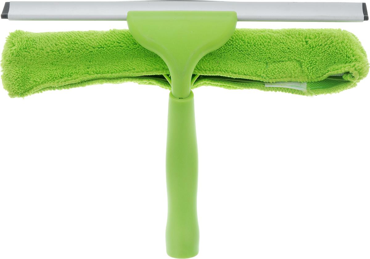Стеклоочиститель York, с насадкой, с водосгоном, цвет: зеленый8402_зеленыйСтеклоочиститель York с насадкой из микрофибры и съемным резиновым водосгоном станет незаменимым помощником при уборки. Изделие можно использовать для мытья стекол как дома, так и в автомобиле. Удобная рукоятка выполнена из пластика и имеет телескопическую форму. Оригинальный, современный и удобный стеклоочиститель сделает уборку эффективнее и приятнее. Размер насадки: 31 х 7 х 4 см. Длина ручки: 14 см. Размер водосгона: 30,7 х 2,2 см.