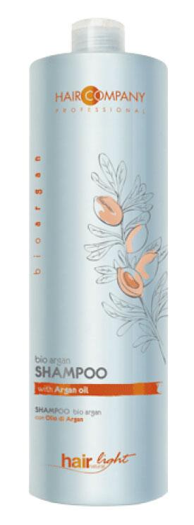 Hair Company Шампунь для волос с био маслом Арганы Professional Light Bio Argan Shampoo 1000 мл255756Специальный шампунь линии bio argan. Разработан для борьбы с ломкостью и обезвоживанием повреждённых и окрашенных волос. В составе формулы масла Арганы. Особенности продукта: Увлажняет и делает цвет окрашенных волос более насыщенным, живым и стойким. Обогащён ненасыщенными кислотами и витамином Е Питает и ухаживает по всей длине волос Результат применения – более насыщенный цвет, защита и увлажнение повреждённых, окрашенных волос